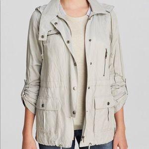 Joie Military Style Anorak Jacket Raincoat Silver